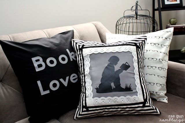 Night Circus Book Lover Pillowcase Tutorial - Rae Gun Ramblings. Perfect project or gifts for readers and book lovers.
