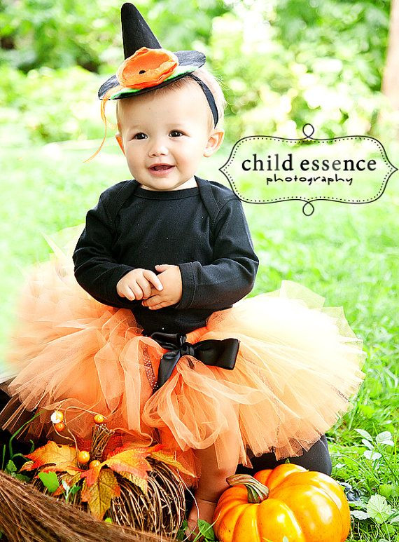 Baby Girls Witch Tutu Costume Outfit Halloween by StrawberrieRose