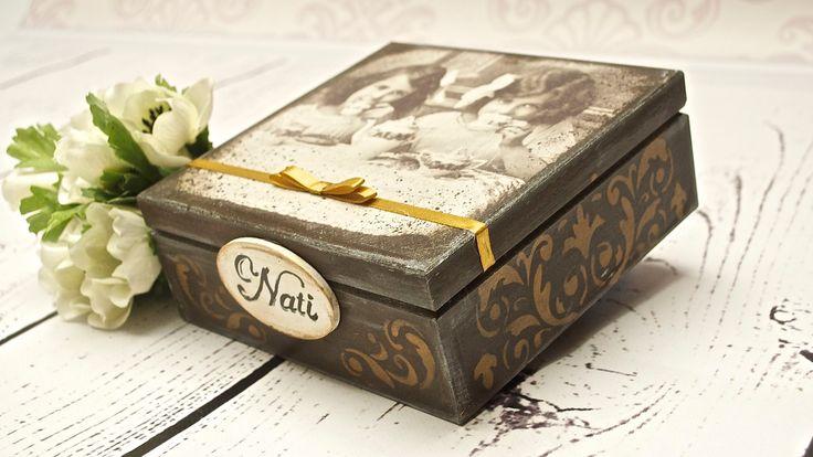 Decoupage box - tea time - Tutorial  -----   DIY By Catherine :)