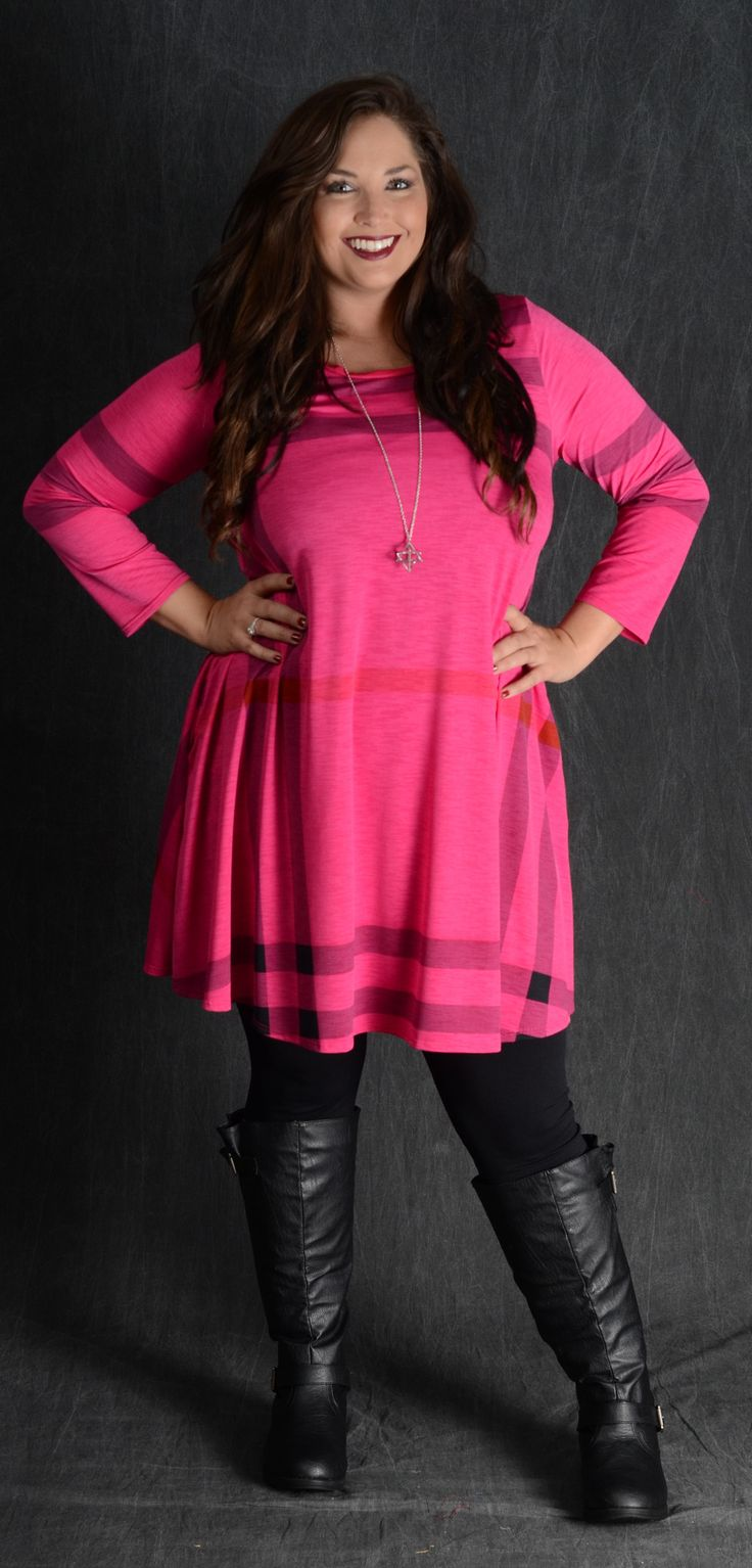 Fuchsia Haymarket Pocket Dress