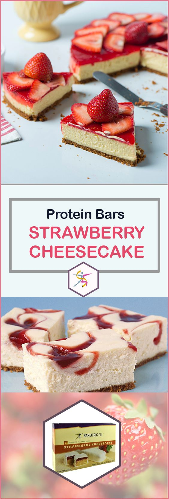 Cheesecake makes you think of guilt, but BariatricPal High Protein Bars Strawberry Cheesecake are quite the opposite. They're still as tantalizing as the fatty dessert, but they're a high-protein, sensible delicious alternative. It'll be hard to explain to your friends that you're losing weight while eating strawberry cheesecake.