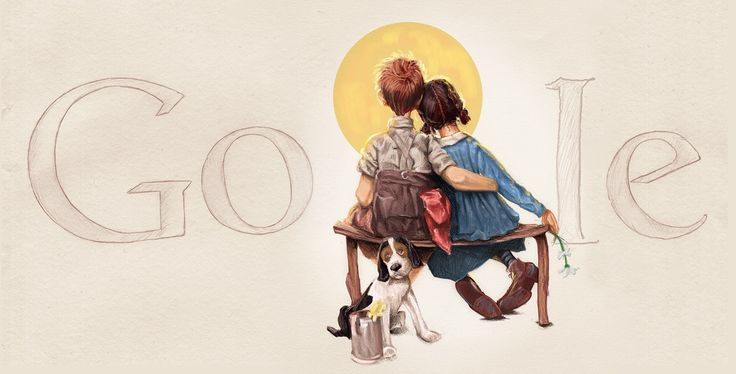 Norman Rockwell's 106th Birthday – © 1926 SEPS by Curtis Publishing [106 лет со дня рождения Нормана Роквелла] /This doodle was shown: 03.02.2010 /This is global doodle. It was shown for all countries