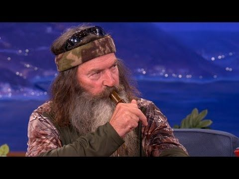 Duck Commanders Teach Conan To Make Duck Calls - CONAN on TBS. I love Phil. (But I always see his feet now. Oof.)