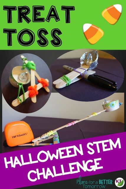 Halloween STEM Challenge: Treat Toss is an engaging, collaborative, hands-on activity in which students design a device to toss candy to trick-or-treaters at a distance.