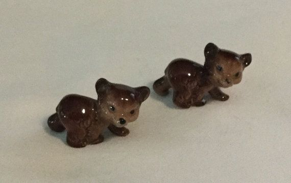 2 Vintage Hagen Rennaker Bear Cub Figurines by Rat3333 on Etsy