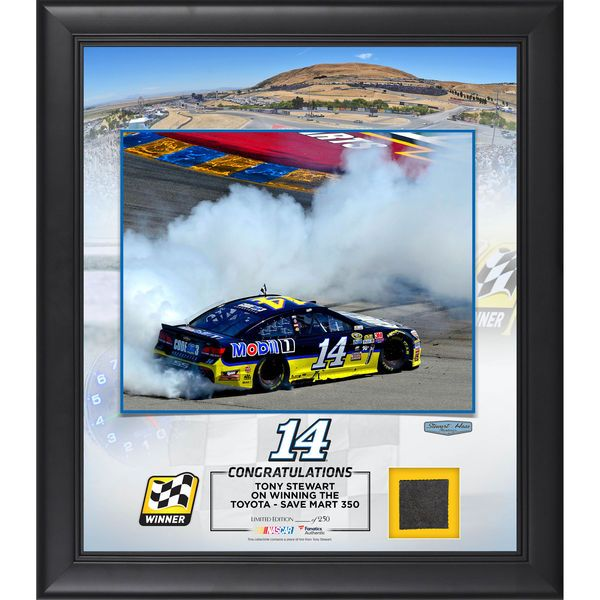 """Tony Stewart Fanatics Authentic 2016 Toyota Save Mart - 350 Race Winner Framed 15"""" x 17"""" Collage with Race-Used Tire - $79.99"""