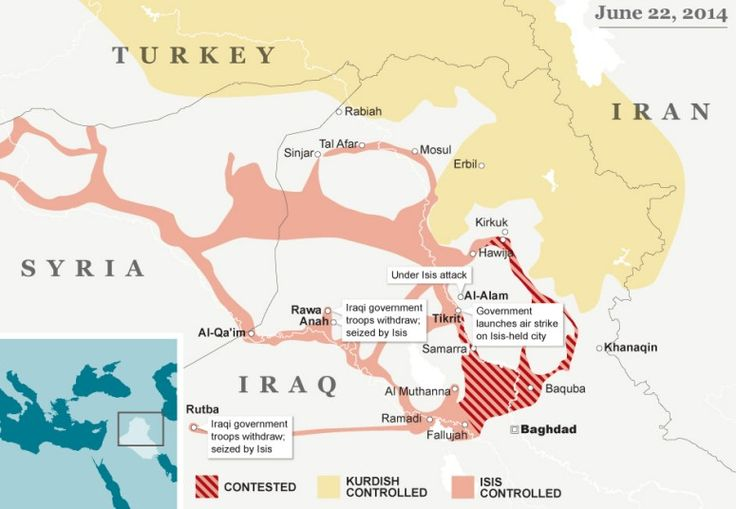 Iraq crisis map: how the Isis front line has shifted - Telegraph (Maybe not a destination for a while)