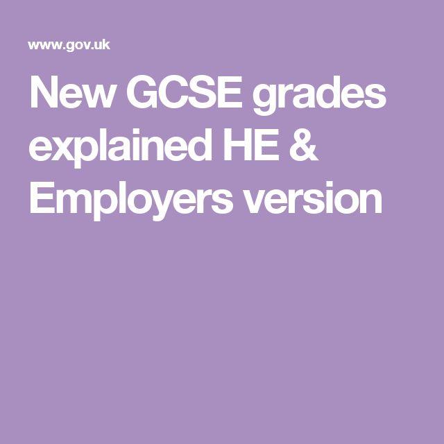 New GCSE grades explained HE & Employers version