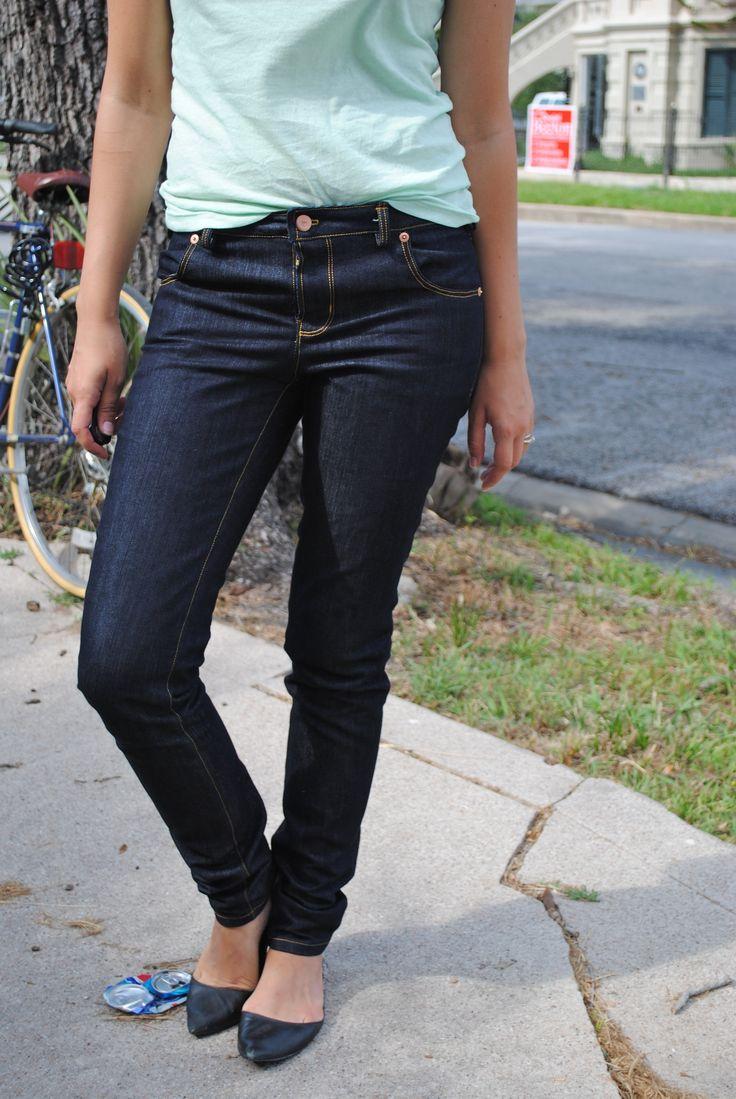 Homemade jeans!  I've got to try this.  I'm tired of ill fitting expensive jeans.