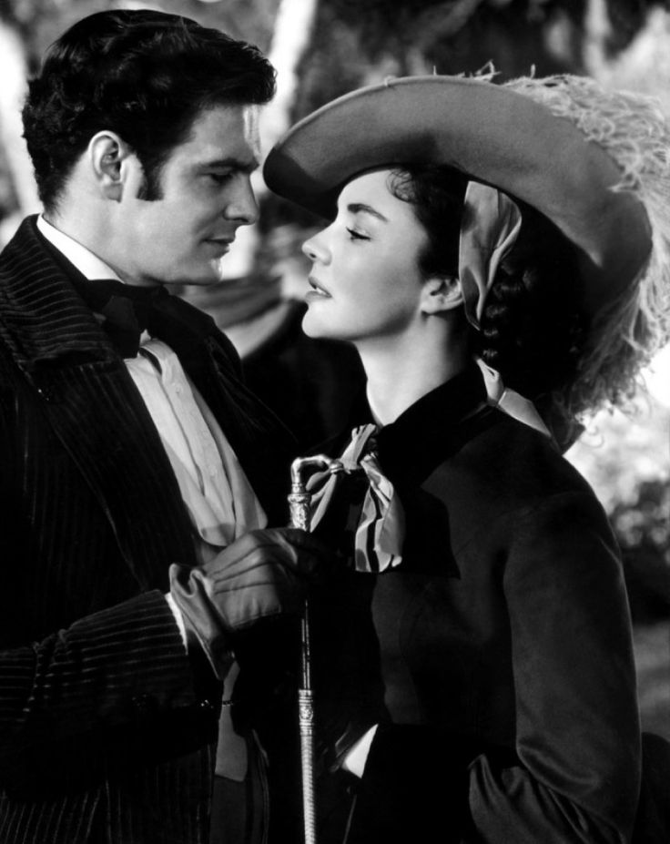 Louis Jourdan and Jennifer Jones in 'Madame Bovary (1949). Directed by Vincente Minnelli.