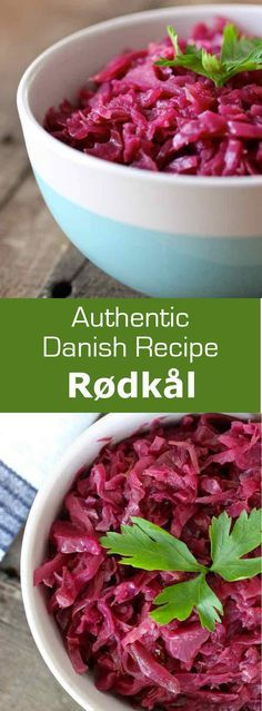 Rødkål is the traditional Danish sweet and sour side dish prepared with red cabbage and often served with roast pork or duck. #Scandinavian #Danish #Swedish #196flavors