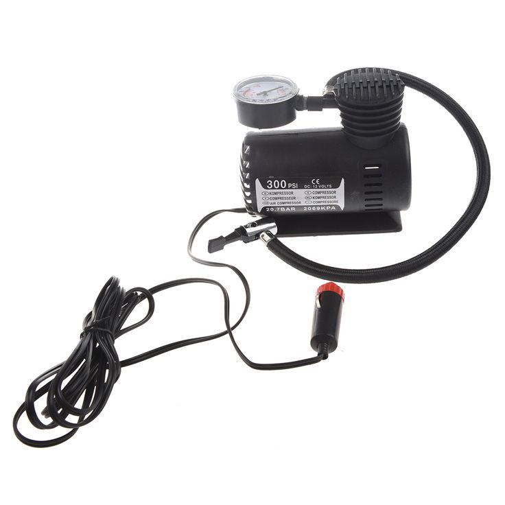 12V Car Auto Electric Pump Air Compressor Portable Tire Inflator 300PSI K590