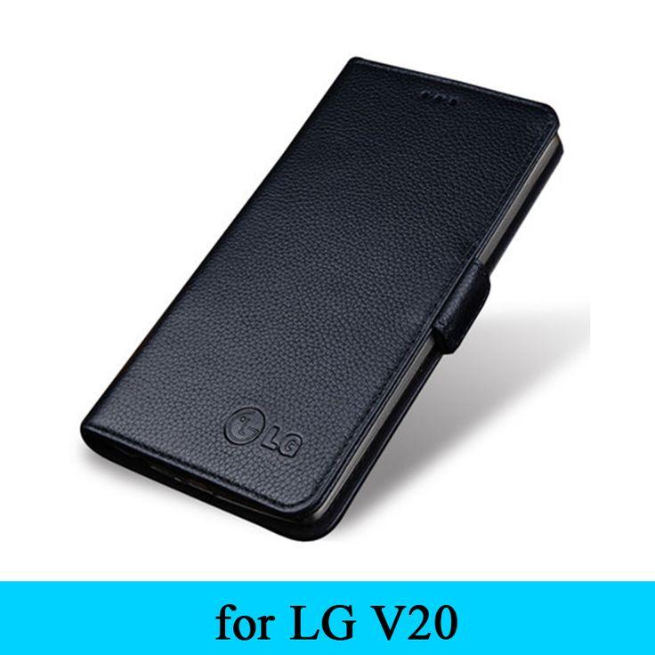 2016 Fashion Brand High Quality Business Wallet Case For LG V20 5.7inch Genuine Leather Phone Cover Magnet Design Bag Flip Skin