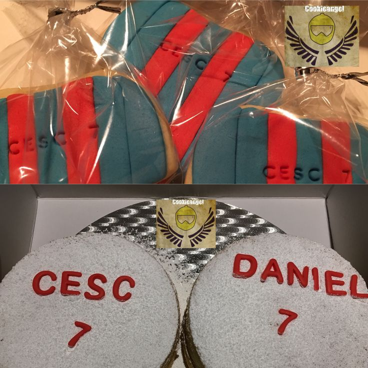 Cesc y Daniel han celebrado su cumple#cake #cookies #barça #lactosefree #