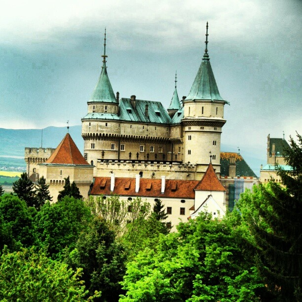view of the Bojnice Castle