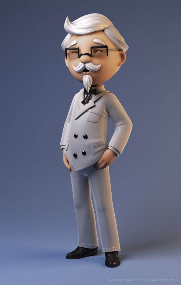 KFC Colonel Sanders by Carlos Ortega Elizalde, via Behance