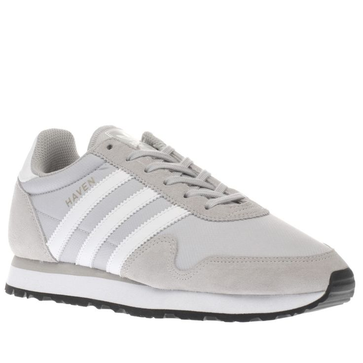 womens adidas light grey haven trainers