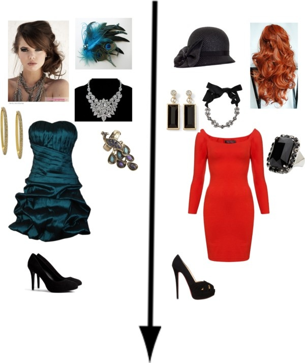 """""""Mrs. Peacock & Miss Scarlet"""" by aimee-legrone on Polyvore"""