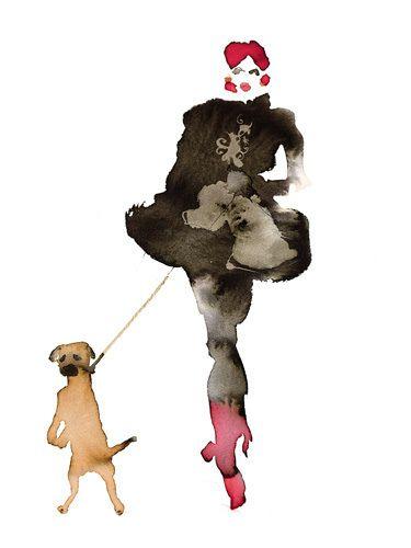 What to Wear When Walking the Dogs 8 - Bridget Davies Prints - Easyart.com