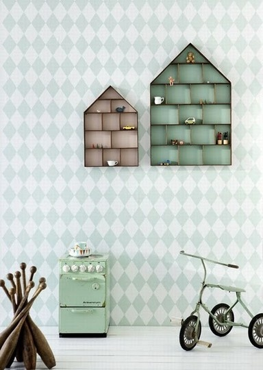Mount a dollhouse on the wall and use for storage