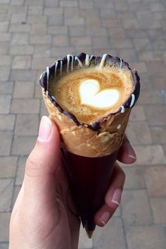 Hailing from The Grind Coffee Company in Johannesburg, South Africa, coffee in a cone is the latest food trend that has people traveling from all over the place, and for good reason.
