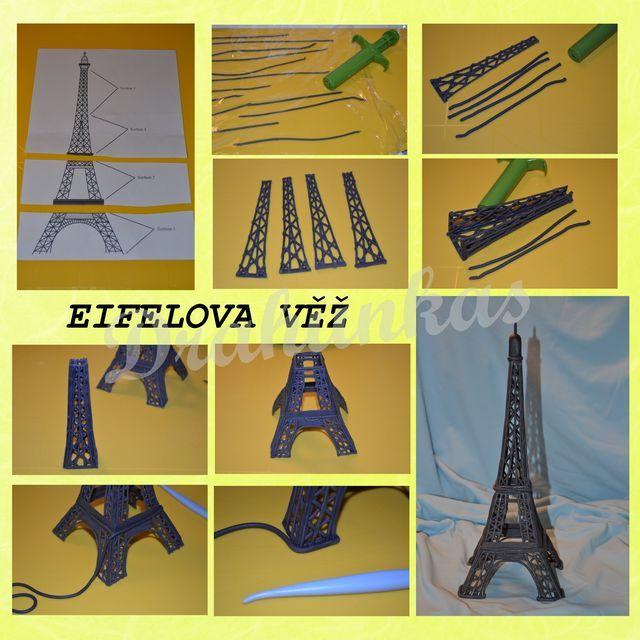 Eiffel tower tutorial - by drahunkas @ CakesDecor.com - cake decorating website