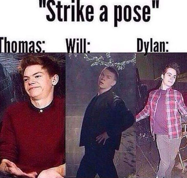 Thomas Brodie-Sangster , Will Poulter, Dylan 'O Brien.