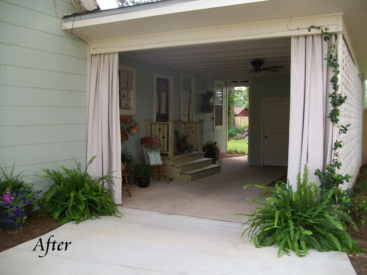 clever use of carport... turned breezy patio!