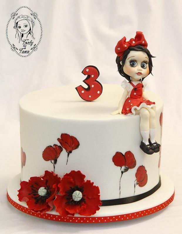 Maková panenka :-) torta, bábiky a torty pre dievčatá