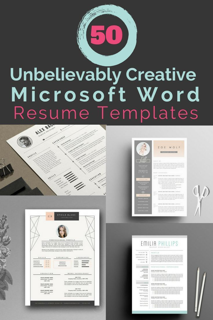 Microsoft Word Resume Templates and Cover Letter
