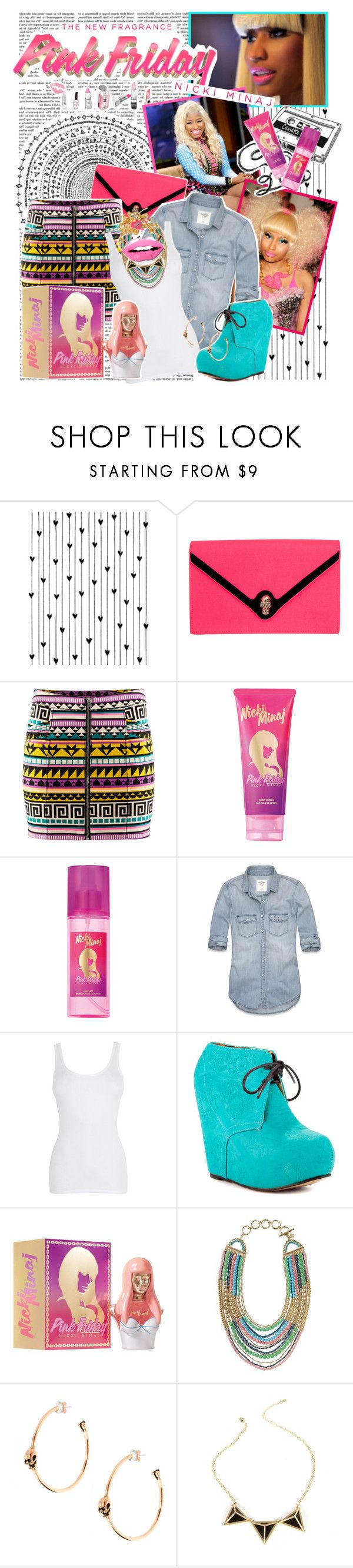 """""""Totally Fearless with Pink Friday Nicki Minaj"""" by crystal85 ❤ liked on Polyvore featuring moda, Camp, Nicki Minaj, Mariah Carey, CASSETTE, H&M, Abercrombie & Fitch, Iron Fist, Stella & Dot e Wildfox"""