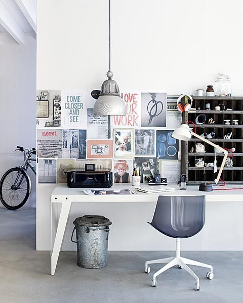 for the office - industrial yet modern chic