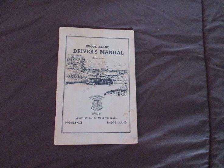 VINTAGE 1956 Rhode  Island STATE DRIVERS MANUAL Registry of Motor Vehicles 1956
