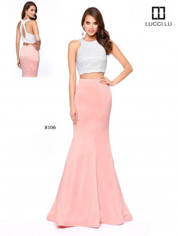 LUCCI LU 8106 Size 4 #WhiteBlush #White #Blush  #LucciLu #Prom #Prom17 #Prom2017 #PromDress
