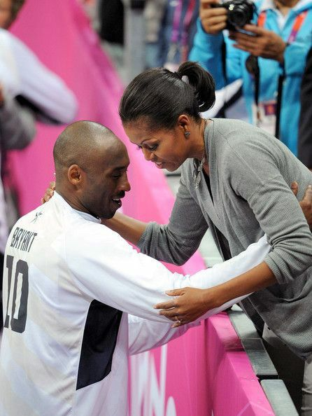 Kobe and First Lady Michelle Obama