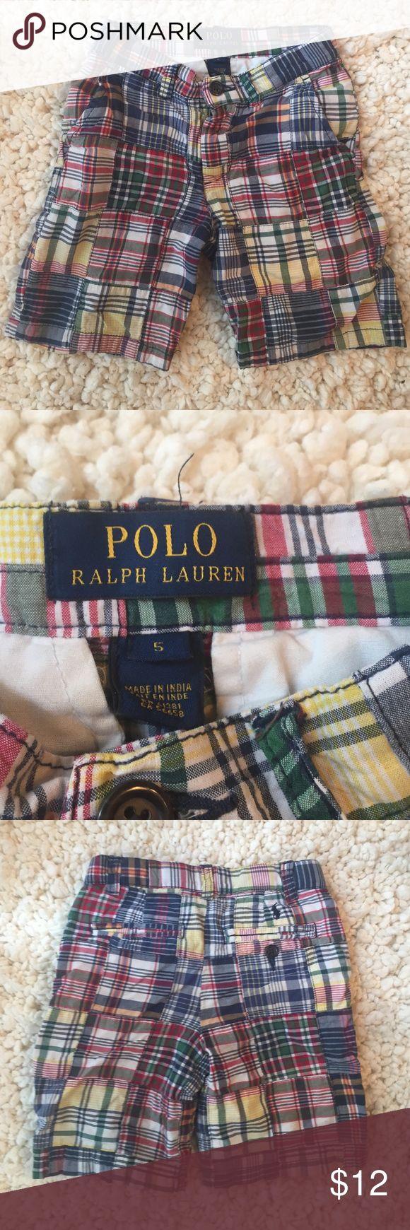 Boys Ralph Lauren Shorts Adorable patchwork plaid shorts perfect for you little man Polo by Ralph Lauren Bottoms Shorts