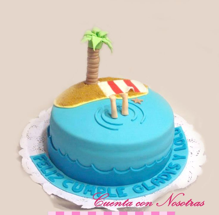 Torta playa Beach Cake