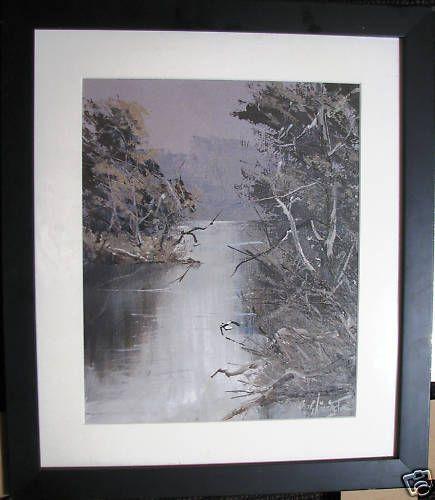 Australian Artist   Patrick Shirvington s  original oil titled  Lost Light