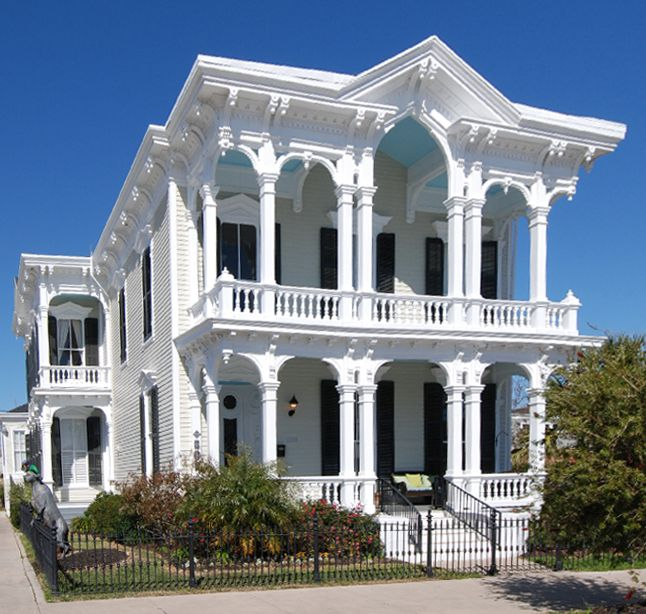 Grand house in Galveston, Texas, one of the few that survived the Great Storm of 1900