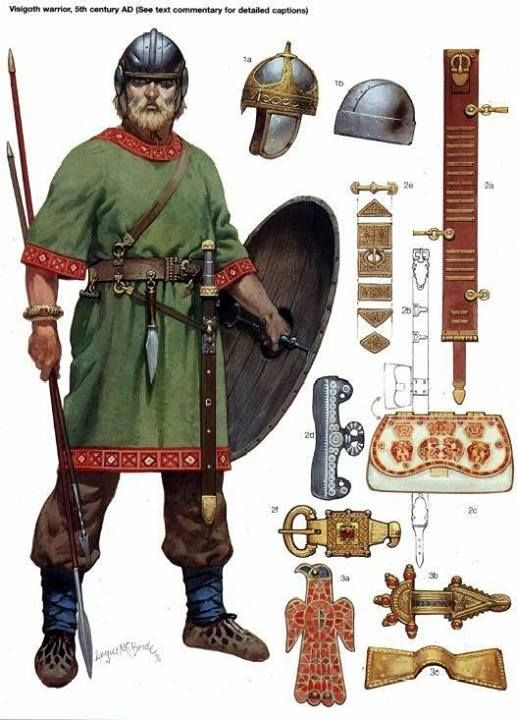 Visigoth - 400 CE. Not Frankish but still Germanic.