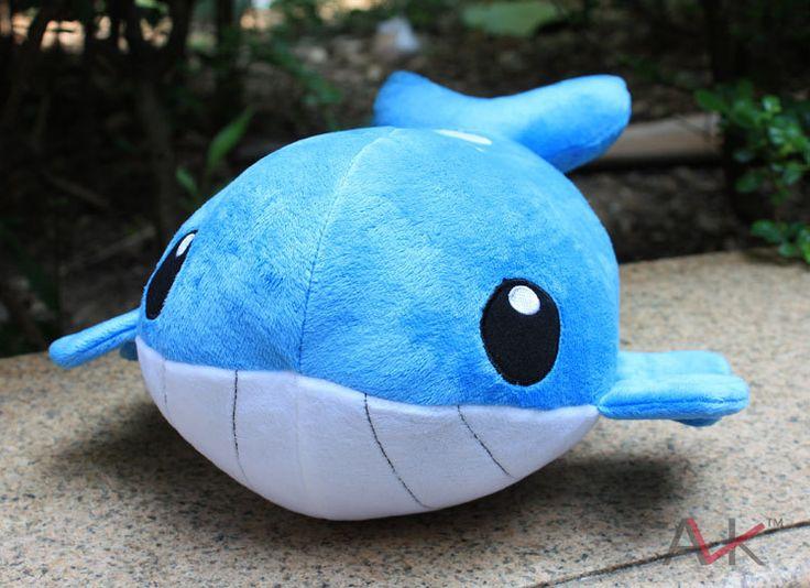 Покемон плюшевые Китов плюшевые 35 см Японского Аниме Покемон Wailmer карман мастер Игрушки подарок на день рождения