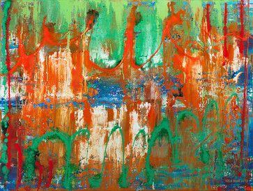 Bridge  36x48 acrylic on canvas Abstract   Paintings - contemporary - artwork - minneapolis - EdBockEditions