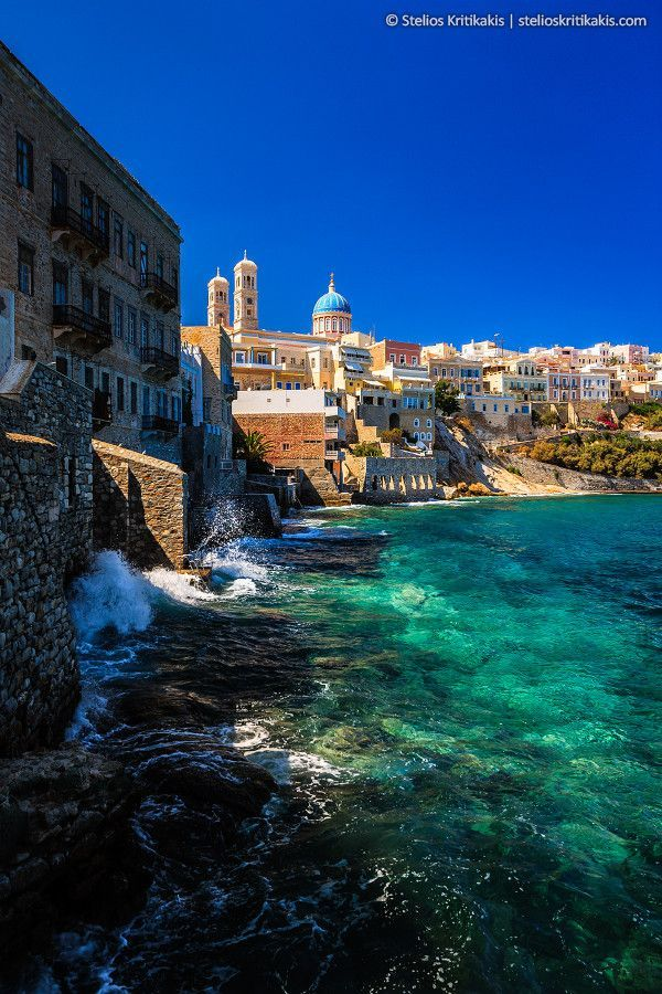 Ermoupoli on the island of Syros, Cyclades Greece