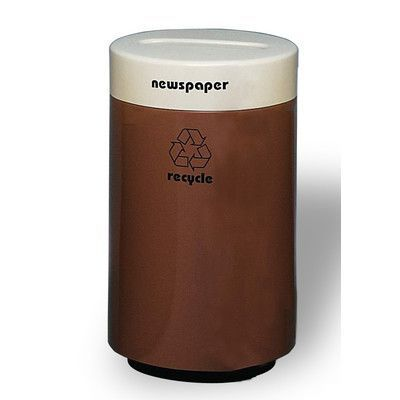Allied Molded Products Magnum 18-Gal 1 - 2 Stream Industrial Recycling Bin Color: Anastasia Emerald