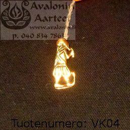 Viking age jewel, bronze: Uppåkra man / Viikinkiajan pronssikoru: Uppåkran mies