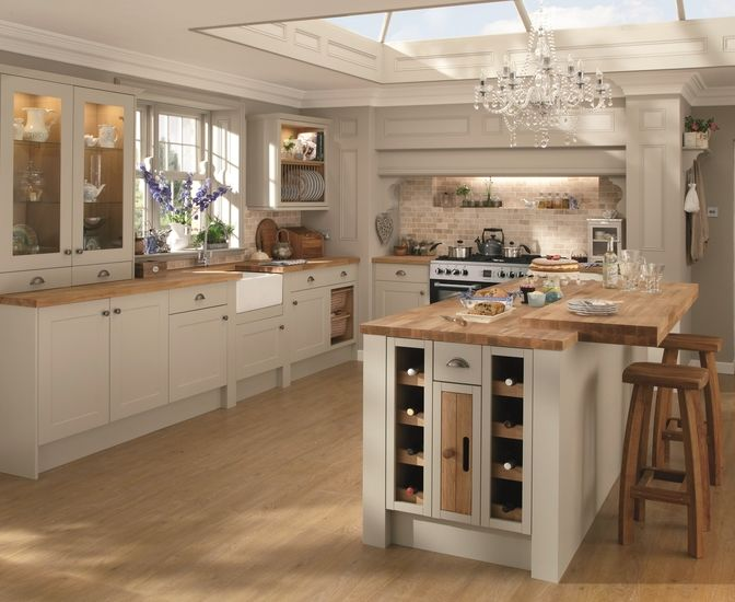 51 best grey kitchens images on pinterest for Shaker style kitchen grey