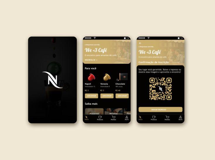Nespresso app by talita viegas in 2020 interactive