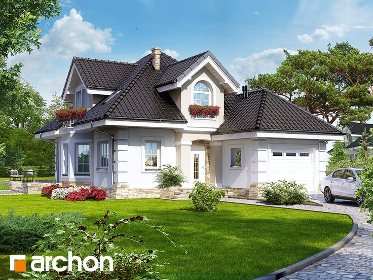 Projekt: Dom w rukoli ver.2 Wizualizacja widok 1