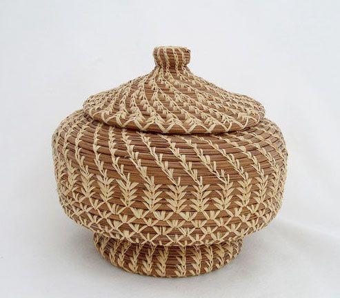 pineneedle basket - have a similar one that I got in Charleston, SC