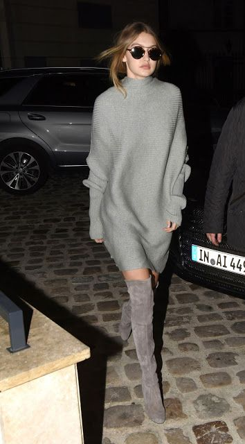 Lily Of The City:  Lily Of The CityGigi Hadid in Stuart Weitzman boo...